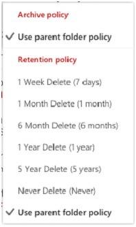 Default Retention Policy